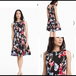 White House Black Market Floral Scuba Dress